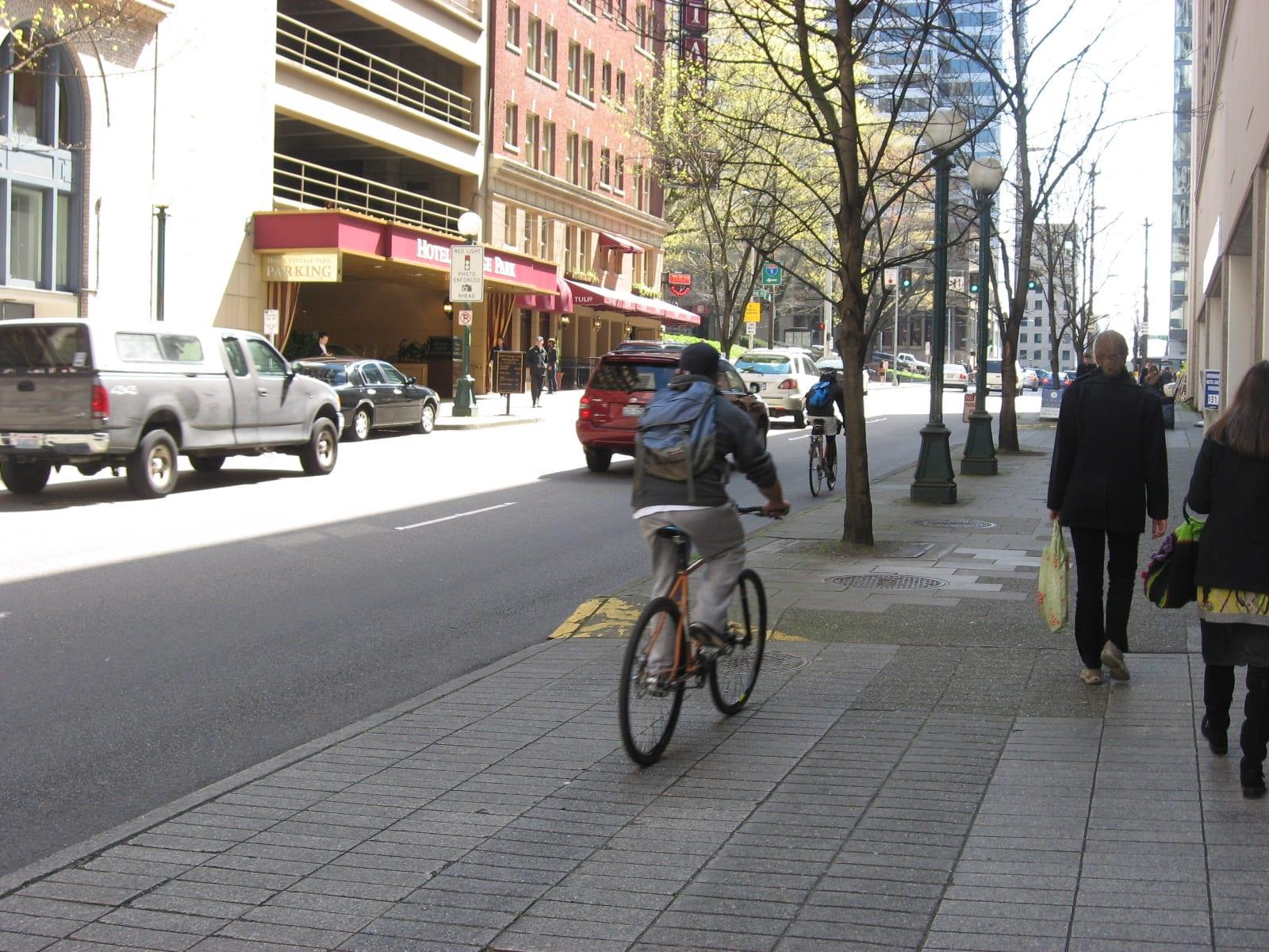 Las bicis y las aceras