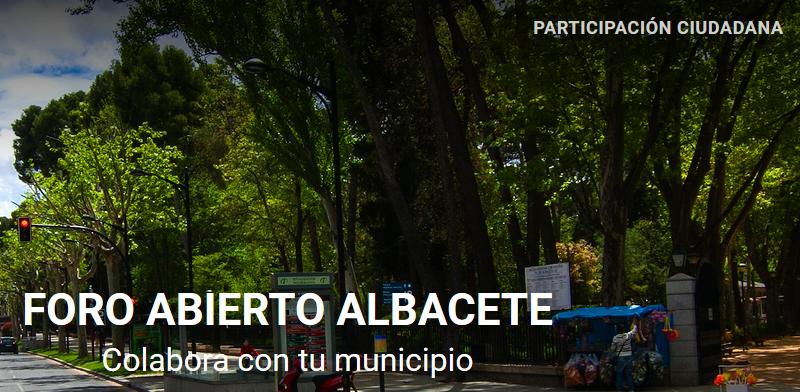 Foro Abierto Albacete. Nueva iniciativa para la PARTICIPACIÓN